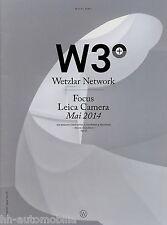 Prospekt Magazin W3+ Wetzlar Network Focus Leica Camera Mai 2014 magazine