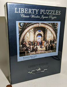Liberty Puzzles.THE SCHOOL of ATHENS,Raphael.480 Piece.Classic Wooden Jigsaw.NEW