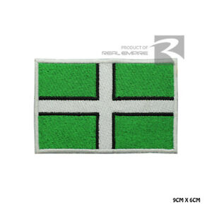 DEVON County Flag Iron On Sew On Embroidered Patch Badge For Clothes Bags etc
