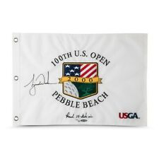 Tiger Woods Signed Autographed 2000 U.S. Open Pebble Beach Pin Flag #/500 UDA