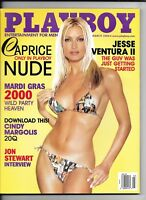 Back Issue March 2000 Playboy Magazine ~ Caprice Cover & Nude ~ Nicole Lenz