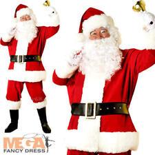 Deluxe Regal Plush Santa Claus Father Christmas Mens Fancy Dress Adult Costume