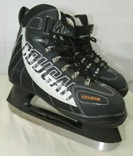 COUGAR Mens Skates Ice Hockey Black Pre Owned Lightly Use Size 7 US