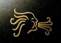 Custom Guitar Flourish Headstock Pickguard Decal Sticker 0.4% GOLD Norse Viking