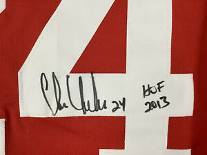 Chris Chelios Signed Jersey Chicago Blackhawks Hockey Auto HOF 2013 Insc PSA/DNA