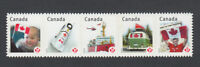 Error INCORRECT Spelling = LEUDERS = DIE CUT Strip 5 Canada 2012 #2503i MNH-VF
