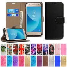 Case For Samsung Galaxy J1 J2 J3 J4 J5 J6 Plus Leather Wallet Flip Stand Cover