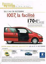 Publicité Advertising 2005 Peugeot 1007