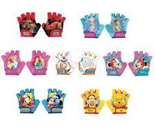 Disney Kids Bike Cycle Gloves Half Finger Minnie,Mickey,Cars,Winnie,Frozen 4-6Y