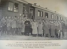 """Russian Army Officers South Western Front 1917 World War 1 7x5"""" Reprint Photo"""