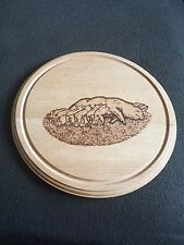 Pig Bread/Cheese Board - Pyrograved (10 inches)