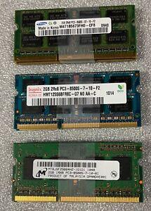 Samsung or Hynix or Micron PC3-8500 DDR3 1066 204-Pin SoDimm Memory RAM 4GB Kit