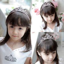 Wedding Party Children Flower Girl Rhinestone Crystal Pearl Headband Tiara Gifts