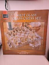 Maxim Shot Glass - Glass Chess Set Brand New