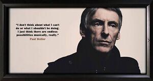Paul Weller Framed Photo Motivational Poster