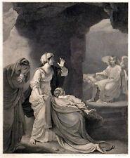 MARYS AT THE SEPULCHRE 1791 William Sharp  - Robert Smirke ANTIQUE ETCHING