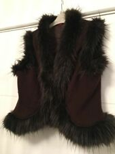 MONSOON BROWN 100% WOOL GILET SIZE 12 Excellent Condition