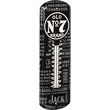 """JACK DANIELS OLD No 7 BRAND REPEAT METAL THERMOMETER Dimensions: 5""""(W) X 17""""(H)"""