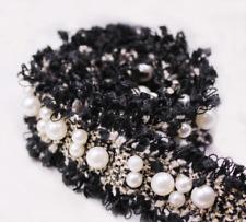 1 Yard Pearl Beaded Ribbon Lace Trim Embellishment for Sewing Diy Art Crafts 3cm