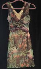 Anthropologie Weston Dress Surplice Mesh Floral Sleeveless Lined Women's Small