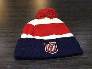 2016 World Cup of Hockey Team USA Pom Toque Beanie Cap Hat Winter Cuffed