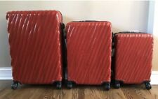 New Tumi 19 Degree 3 pc Luggage Set Red Extended,Short Trip & Carry-On $1,945