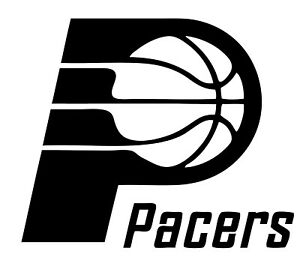 """Indiana Pacers NBA Decal """"Sticker"""" for Car or Truck or Laptop"""