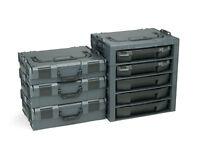 Bosch Sortimo Werkzeugkoffer Set 3x L-Boxx 136 Gr2 + i-Boxx Rack 5fach anthrazit