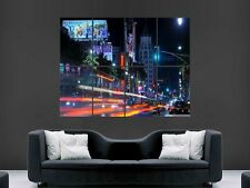 LOS ANGELES  LA  DOWNTOWN NIGHT  POSTER WALL ART PICTURE  LARGE GIANT