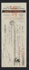 """LYON (69) USINE de PATES ALIMENTAIRES RIVOIRE & CARRET """"BRUN & MARGE"""" en 1923"""