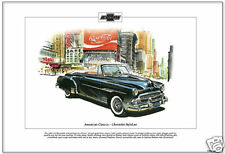 American Classics - 1951 CHEVROLET STYLELINE  Fine Art Print - DeLuxe Sports Car