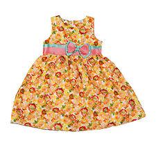 Nuevo Chica Verano Vestido de Fiesta Con Flores en amarillo Rojo 4 5 6 7 8 Años