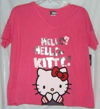 Hello Kitty Tee V-Neck Pullover BACK TO SCHOOL FREE USA SHIPPING MEDIUM