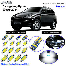 8 Blubs LED Interior Dome Light Kit Cool White For 2005-2014 SsangYong Kyron
