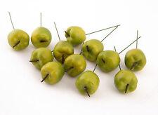 Dekoäpfel Klein mit Draht Apfel 12 Stück in Grün Kunstobst Dekoobst