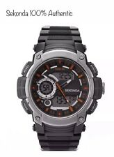 SEKONDA Men's Sports Watch Black Dual Display Chronograph 1160 With Gift Box New
