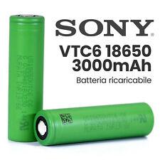 BATTERIA SONY VTC6  3,7v 3.0K mah INCLUSA nel DISPOSITIVO TORCIA POWER BANK