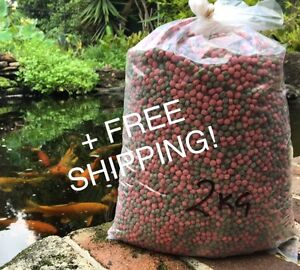 Fish Food Koi - Floating 6mm Med Pellet - 2kg Bulk + FREE SHIPPING!