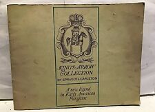 KING'S ARROW COLLECTION BY SPRAGUE & CARLETON FURNITURE! BROCHURE USED RARE!!!!