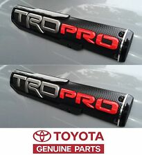 Genuine Toyota Tacoma 2017 TRD PRO Door Emblem Set Emblems OEM OE