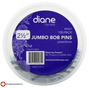 BL Diane Jumbo Pins 100 Count Black Tub - Two PACK
