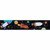 NEW Black Outer Space Wallpaper Border ZB3227BD