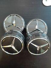4 Tappi Coprimozzo Mercedes AMG Classe A B C CLS CLA  Cerchi in Lega 75mm GRIGI