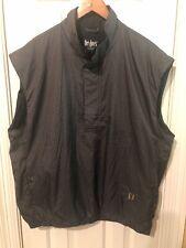 DryJoys FootJoy Mens Houndstooth Wind Rain Pullover Golf Vest Jacket Sz XL 10197