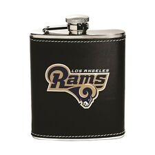 Los Angeles Rams Stainless Steel Flask [NEW] NFL Leather Drink Tailgate
