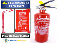 1 KG POWDER ABC FIRE EXTINGUISHER WITH FIRE BLANKET  HOME OFFICE CAR KITCHEN