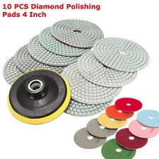 10Pcs 4 inch 100mm Wet / Dry Diamond Polishing Pads Set Granite Concrete Marble