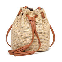 Summer fashion straw wicker women handbag handmade beach weave cross body bag