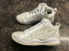 Men's Sz. 10.5 Air Jordan Accolades Premier Basketball Shoes White Laser Cut EUC