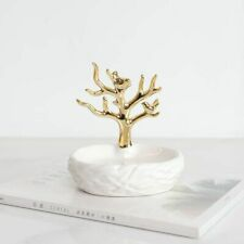 Portable Ceramics Soap Dish Gold Tree Shower Case Holder Container Accessories